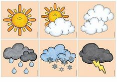 Bildergebnis für ideenreise - Everything About Kindergarten Learning Weather, Weather Activities For Kids, Weather Crafts, Fun Learning, Portfolio Kindergarten, Kindergarten Age, Kindergarten Activities, Preschool, Literacy Games