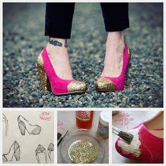 revitalizando sapatos com glamour!