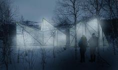 Image 13 of 13 from gallery of Saivu / Eriksen Skajaa Architects, Pushak Architects, Bjørbekk & Lindheim Landscape Architects. Northern Lights Iceland, Architect Design, Green Building, Ice Skating, Landscape Architecture, Norway, Competition, National Parks, Gallery