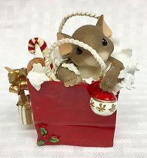"""Charming Tails """"Your Gift Is In The Bag"""" #867/237 from Fitz Floyd"""