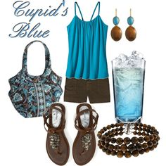 Cupid's Blue (drink inspired fashion)