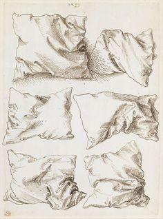 Albrecht Dürer, Six pillows, pen drawing, 1493