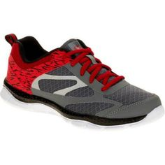 Athletic Works Boys' Athletic Lightweight Running Shoe, Size: 3, Red