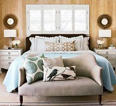 The well-designed bedroom needs a few functional pieces cast in a calm color palette. Home Decor.