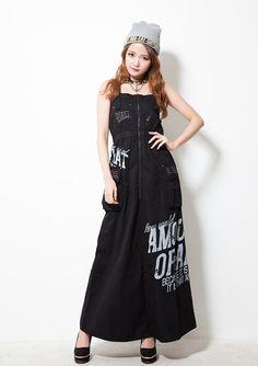 Ghost of Harlem - Cotton Twilled Long Dress Black (Sakurina model) - XENON Los Angeles