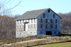 Large white Pennsylvania barn