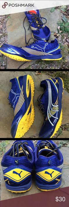 Puma Soccer Cleats size 9 Excellent condition.  Very well maintained, barely worn.  Color blue and yellow.  Size 9 Puma Shoes Athletic Shoes