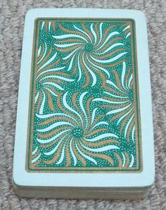 The pack is complete with 52 playing cards but there is no joker. Cards are in very good condition, box has some damage. Swirl Pattern, Pattern Art, Swirls, All Things, Outdoor Blanket, Playing Cards, Joker, Art Deco, Buy And Sell
