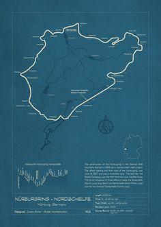 Nurburgring - Nordscheilfe (The Green Hell) - Blueprint track map Go Kart Tracks, Race Tracks, Slot Car Tracks, Holden Australia, Daytona 24, Mid Ohio, Old Race Cars, Vintage Race Car, Formula One