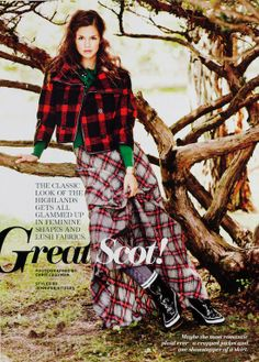by Chris Craymer - Lucky Magazine November 2011 Neo Grunge, Grunge Style, Soft Grunge, Grunge Outfits, Plaid Outfits, Tartan Mode, Tartan Plaid, Tokyo Street Fashion, Le Happy
