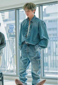 Denim Button Up, Button Up Shirts, Daniel K, Guan Lin, Prince Daniel, Debut Album, Korean Singer, Overalls, Boyfriend