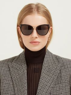 Simona cat-eye acetate sunglasses - My Fashion World 2019 Tom Ford Eyewear, Tom Ford Sunglasses, Sunglasses Women, Women's Eyewear, Dior Sunglasses, Sunnies, Denim And Lace, Clothing Staples, Top Celebrities