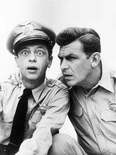 Don Knotts and Andy Griffin in Mayberry TV series