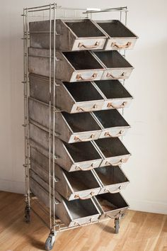 Bakers Rack by Wonder Bread - Diamonds & Rust Baker's Rack with bins for ASB supplies
