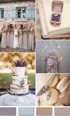 Sắc màu tím lavender nhạt điểm xuyết thêm màu xanh cùng các màu nude khác làm không gian mang một màu trầm nhẹ. Với đám cưới mùa xuân, không gian nhẹ nhàng là điều nhiều uyên ương ưa thích.