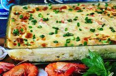 Vous aimez la lasagne et les fruits de mer? Voici une recette totalement FABULEUSE et facile à préparer de lasagne aux fruits de mer.... Miam! Seafood Casserole Recipes, Sauce Recipes, Fish Recipes, Seafood Recipes, Pasta Recipes, Cooking Recipes, Seafood Dishes, Fish And Seafood, Homade Pizza Recipes
