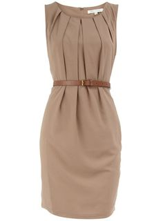 Stone belted dress