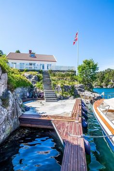 Cottages By The Sea, Norway, Seaside, Beach House, Architecture Design, Real Estate, Cabin, Mansions, Interior Design