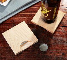 Wooden Bottle Opener Coasters