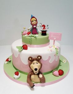 Masha and the bear  - Cake by leccalecca