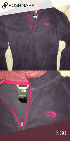 The north Fleece fleece pull over brand new Dark lavender with pink/red detail size small never worn. Bought from outlet mall The North Face Tops Sweatshirts & Hoodies
