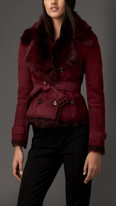 Reverse Collar Shearling Jacket | Burberry
