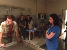 Melissa Ponzio and Ryan Kelley behind the scenes teen wolf Teen Wolf Scott, Teen Wolf Mtv, Teen Wolf Dylan, Dylan O'brien, Parrish Teen Wolf, Jordan Parrish, Ryan Kelley, Wolf Character, Daniel Sharman