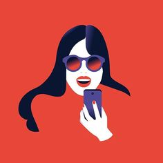 Happy mood…📞😃 Cover illustration for HighCo annual report. . . #illustration #red #happy #smile #phonecall #phone #smartphone #longhair #sunglasses #digitalart #vectorart #vector #illustrissimo #picame #thedesigntip #illustree #designarf #bestvector #pirategraphic #yorokobu #illustrationartists #graphicroozane