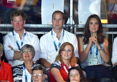 William, Kate and Harry stayed at the boxing for around 45 minutes before leaving for another venue. July 28, 2014