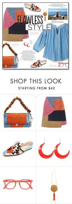 """""""Flawless Style"""" by fassionista ❤ liked on Polyvore featuring Miu Miu, M.i.h Jeans, Rachel Comey, STELLA McCARTNEY, WAIWAI, NYFW, skirt, suede, mules and summertofall"""