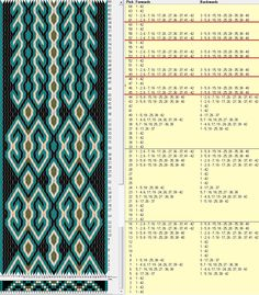 42tarjetas, 4 colores, 2 diseños con secuencias de 16 y 4 movimientos // sed_396 diseñado en GTT༺❁