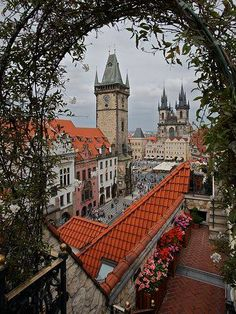 Internet Store of Worldwide Souvenirs - Acrylic Fridge Magnet: Czech Republic. The Window to Prague Most Beautiful Cities, Wonderful Places, Beautiful World, Budapest, Oh The Places You'll Go, Places To Travel, Places To Visit, Bratislava, Visit Prague