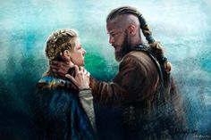 Ragnar and Lagertha. by russianval.