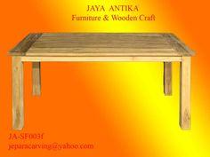 Kode : JA-SF003e Nama : Meja Makan Minimalis 1    Meja Makan Minimalis 1 merupakan produk dari Jaya Antika, terbuat dari kayu pilihan serta dikerjakan oleh tukang kayu yang sudah sangat berpengalaman dalam pembuatan Meja makan , dan untuk gamba