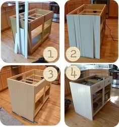 DIY Kitchen Island Ideas | Honestly . . Terracotta Orange And Green  Laminate . . Was