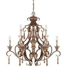 Minka Lighting M4209290 Abbott Place Mid Sized Chandelier Chandelier - Classic Oak Patina