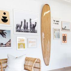 Hati Home Palomino Surfboard – HatiHome Surfboard Decor, Surf Decor, Beachy Room Decor, Surf Style Decor, Wooden Surfboard, Surf Bedroom, Bedroom Decor, Bedroom Ideas, Wall Decor