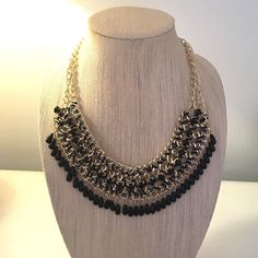 🆑 Statement necklace in black and gold ✨Black and Gold Statement necklace✨ GlamVault Jewelry Necklaces