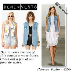 Get Inspired: Denim Vests have made a huge comeback. We edit it down to a few of our faves.