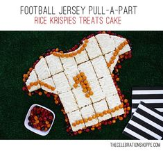 Football Jersey Pull-A-Part Rice Krispies Treats Cake