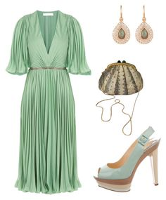 """""""Untitled #475"""" by style75 on Polyvore featuring Halston Heritage, Christian Louboutin, Irene Neuwirth and Judith Leiber"""