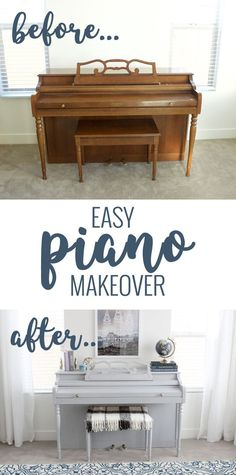 DIY Piano Makeover - Home Decor Furnituree Furniture Projects, Furniture Makeover, Diy Furniture, Building Furniture, Bedroom Furniture, Dresser Makeovers, Simple Furniture, Repurposed Furniture, Antique Furniture