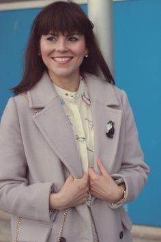 Tender Wool-blend Longline Coat in Lilac, Birdie Paradise Crepe Shirt, Dreamy Pink Mesh Pleats Tulle Skirt, Chic Wish, Pastel, Fashion, Vintage, style, blog,women, pastel, mauve, style, outfit idea, winter, mauve, jacket, coat, dress, design, collection,