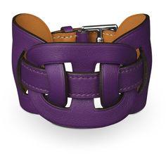 Leather Jewelry Hermès Purple ($640) ❤ liked on Polyvore