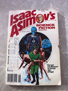 Items similar to Isaac Asimov's Science Fiction Magazine May-June 1978 on Etsy Science Fiction Magazines, Science Magazine, Isaac Asimov, Sci Fi, Novels, Books, Etsy, Science Fiction, Libros