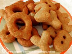 Easy Alphabet Doughnuts  Might do this for chicka chicka boom boom snack instead of alphabits treats