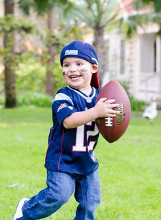 2 year old toddler football portrait photo session | Photography