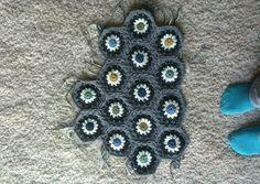 granny squares hexagon grey