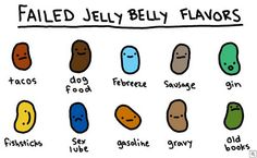 Failed Jelly Belly Flavors