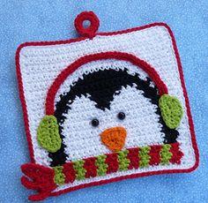 Whiskers & Wool: Winter Penguin Potholder - New Pattern In Shop